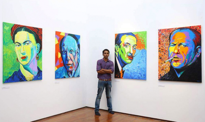 rony anand with painting